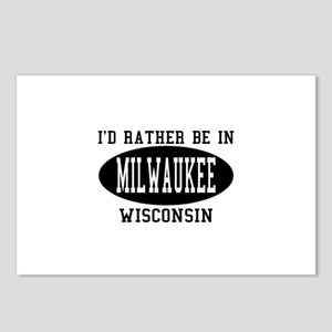 I'd Rather Be in Milwaukee, W Postcards (Package o