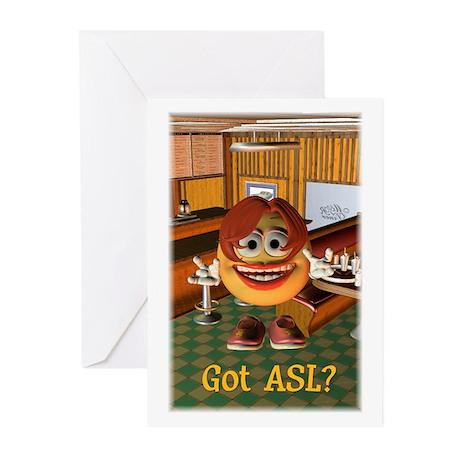 ASL Girl - Greeting Cards (Pk of 10) 5x7