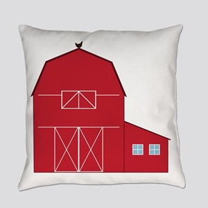Red Barn Everyday Pillow