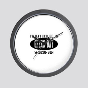 I'd Rather Be in green Bay, W Wall Clock