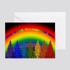 Yuletide Gay Christmas Card Greeting Cards
