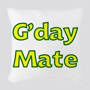 G'day Mate Woven Throw Pillow