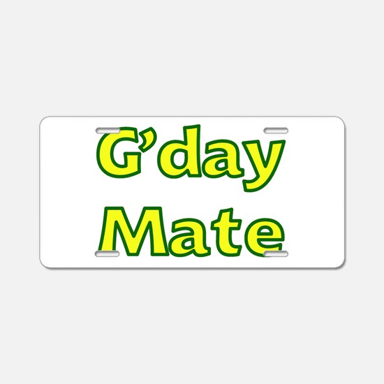 G'day Mate Aluminum License Plate