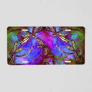 Dragonfly Hippy Flit Aluminum License Plate