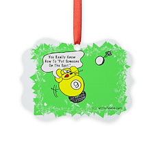 Funny Billiard Mouse Spot Shot Ca Picture Ornament