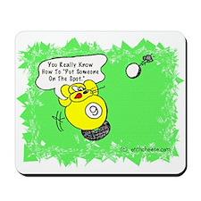 Funny Billiard Mouse Spot Shot Cartoon Mousepad