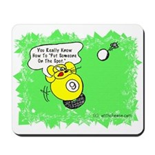 Funny Billiard Mouse Spot Shot Cartoon Mousepad