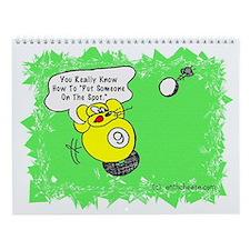 Funny Billiard Mouse Spot Shot Carto Wall Calendar