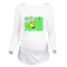 Funny Billiard Mouse Long Sleeve Maternity T-Shirt
