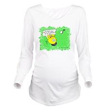 Funny Billiard Mouse Long Sleeve Maternity T-Shirt