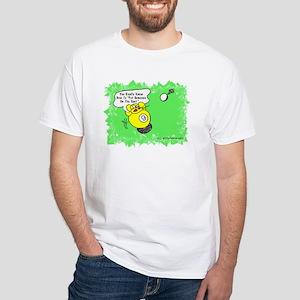 Funny Billiard Mouse Spot Shot Carto White T-Shirt