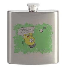 Funny Billiard Mouse Spot Shot Cartoon Flask