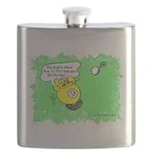 Funny Billiard Mouse Spot Shot Cartoon Flask