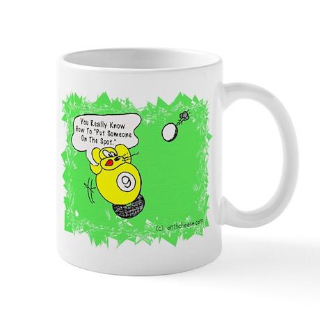 Funny Billiard Mouse Spot Shot Cartoon 11oz Mug