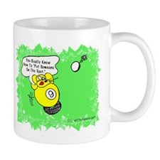 Funny Billiard Mouse Spot Shot Cartoon Mug