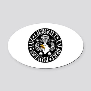 Band of Brothers Crest Oval Car Magnet