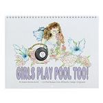 Girls Play Pool Too 8 Ball Wall Calendar