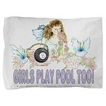 Girls Play Pool Too 8 Ball Pillow Sham
