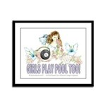 Girls Play Pool Too 8 Ball Framed Panel Print