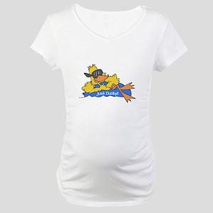 Ducky on a Raft Maternity T-Shirt
