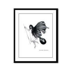 8 Ball Pool Angel Framed Panel Print