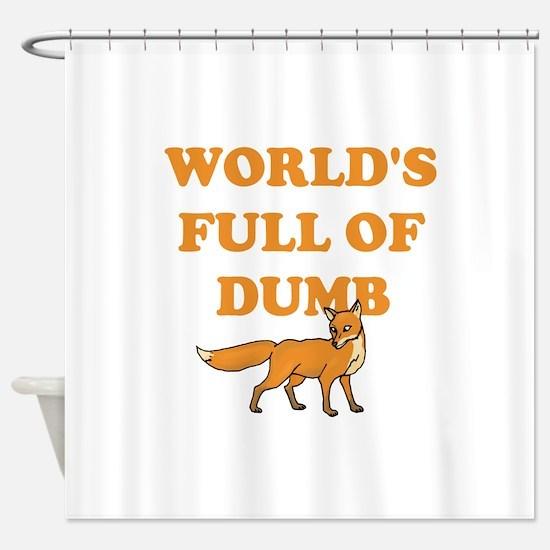 Dumb Fox Shower Curtain