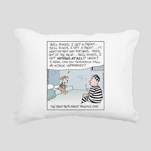 Pavlov's Dog in Jail Rectangular Canvas Pillow