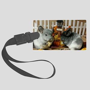 White Ebonies Chinchillas Luggage Tag