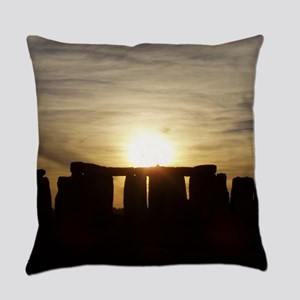 SUNSET AT STONEHENGE Everyday Pillow