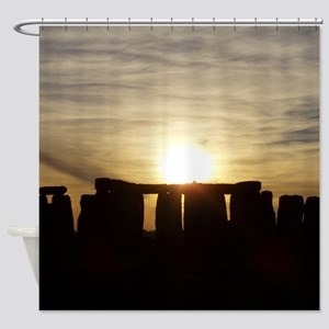 SUNSET AT STONEHENGE Shower Curtain