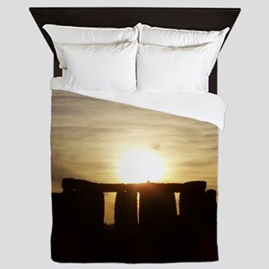 SUNSET AT STONEHENGE Queen Duvet