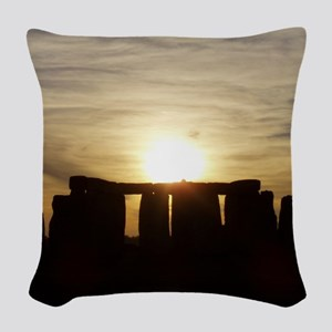 SUNSET AT STONEHENGE Woven Throw Pillow