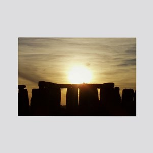 SUNSET AT STONEHENGE Rectangle Magnet