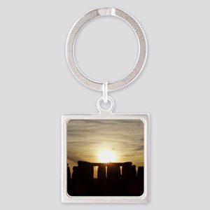 SUNSET AT STONEHENGE Square Keychain