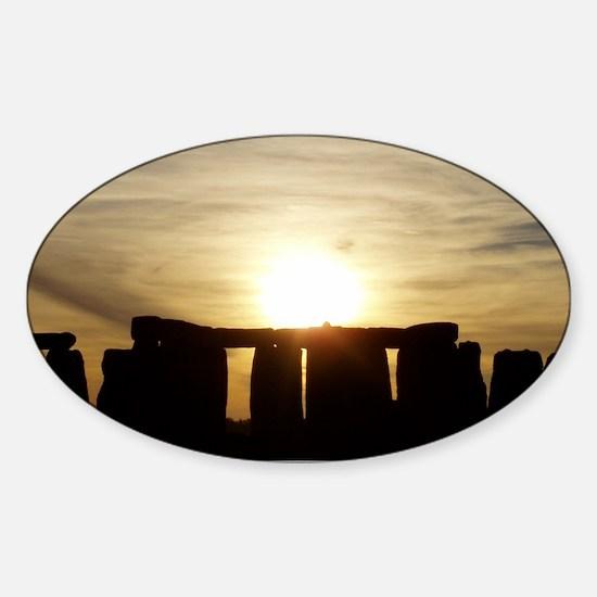 SUNSET AT STONEHENGE Sticker (Oval)