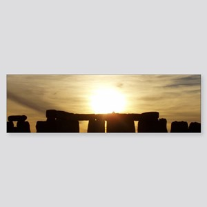 SUNSET AT STONEHENGE Sticker (Bumper)