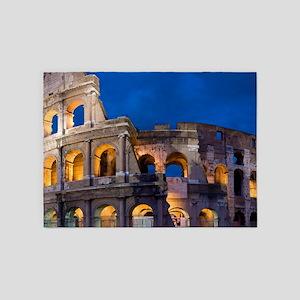 ROME COLOSSEUM 2 5'x7'Area Rug