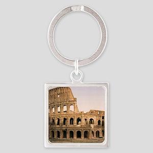 ROME COLOSSEUM Square Keychain