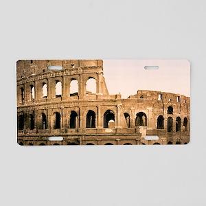 ROME COLOSSEUM Aluminum License Plate