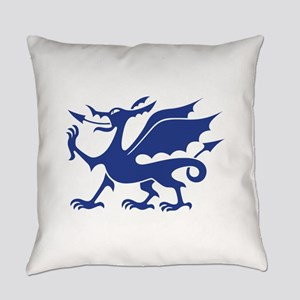 Blue Chinese Dragon Everyday Pillow