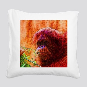 Abstract Animal Square Canvas Pillow