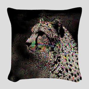 Abstract Animal Woven Throw Pillow