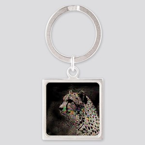 Abstract Animal Square Keychain