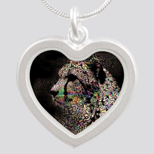 Abstract Animal Silver Heart Necklace