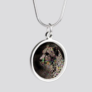 Abstract Animal Silver Round Necklace