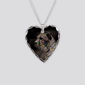 Abstract Animal Necklace Heart Charm