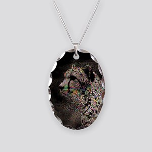 Abstract Animal Necklace Oval Charm