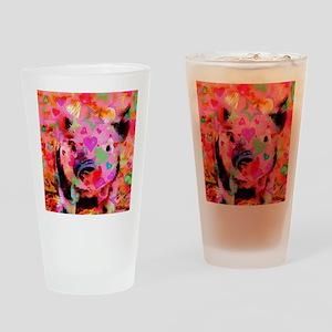 Sweet Piglet Graffiti Drinking Glass