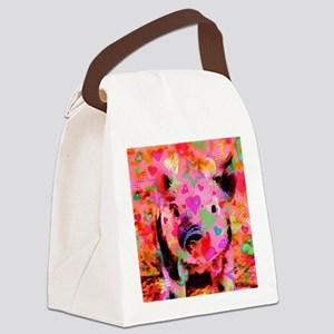 Sweet Piglet Graffiti Canvas Lunch Bag