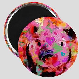 Sweet Piglet Graffiti Magnet